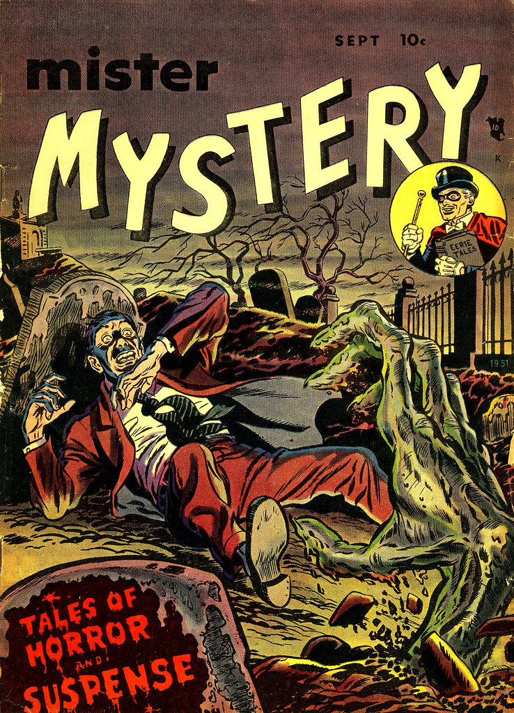 Mister Mystery #1 Ross Andru Cover (Magazines, Inc. 1951)