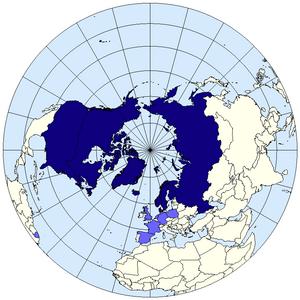 Arctic Council members map