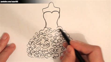 How to draw a wedding dress   YouTube