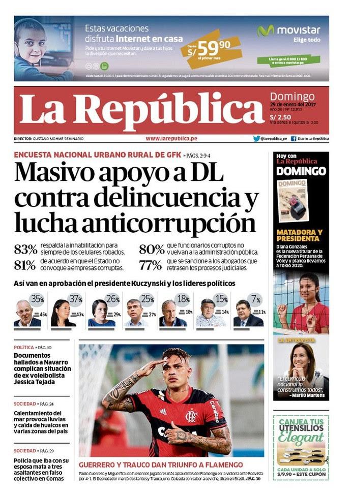 Guerrero, Trauco, Flamengo, jornal peruano (Foto: Reprodução)