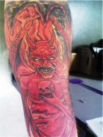 Angeldemon Sleeve Tattoo