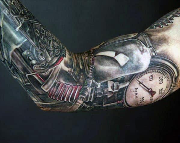 Tatuagens de manga para homens negros