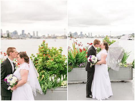 Rachel and David   MV Skansonia WeddingSeattle Wedding