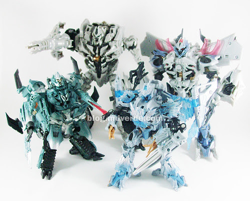 Transformers Megatron RotF Leader vs Voyager vs Movie 1 Leader & Voyager - modo robot