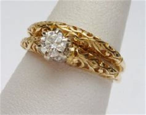 1970's wedding ring sets   Orange Blossom Rings   Vintage