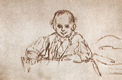Dibujo de Gustavo Adolfo niño