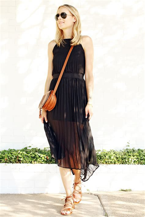 black pleated midi dress fashion jackson