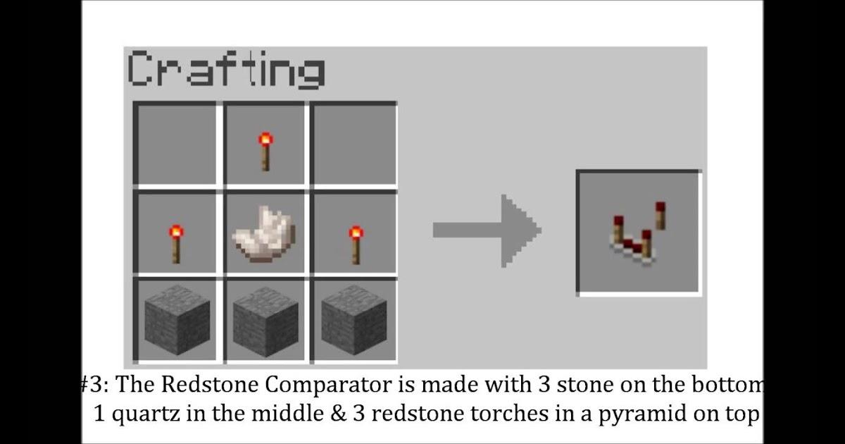 Minecraft Redstone Comparator Recipe - Nyepi s