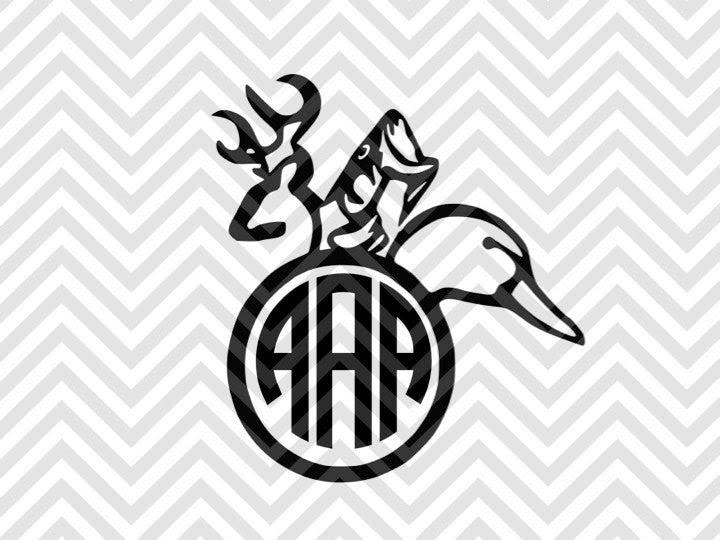 Download Hunting Monogram Letters Not Included Svg Cut File And Pdf Deer Kristin Amanda Designs