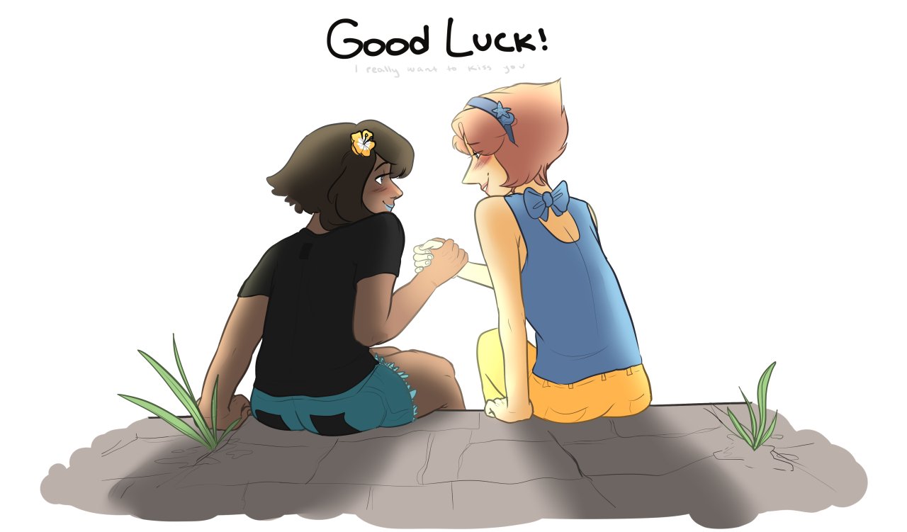I recently started playing pokemon sun and moon with @ghiblimon , so our pearlapis pokemon au kicked back up as a result! Pearl and Lapis have been longtime poke rivals/bestfriends and traveled...