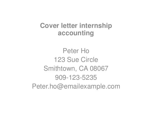 Application letter sample accounting internship cover for Bookkeeping cover letter no experience