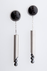RnR Pipecut earrings (Mister C.) Tags: rock silver melanie patrick jewelry roll sterling shards clarke nagel studs vibration