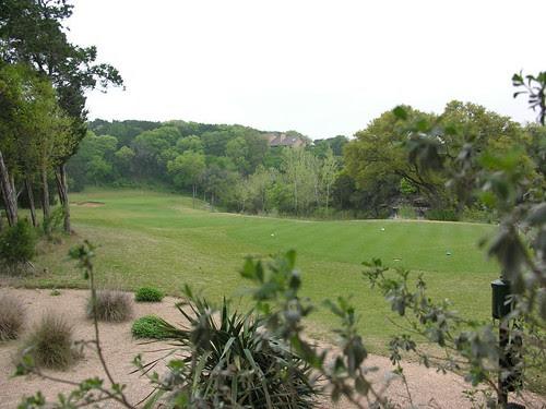 a par three play right hole at fazio canyons at barton creek in austin texas