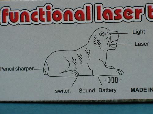 Multi-functional laser tiger diagram