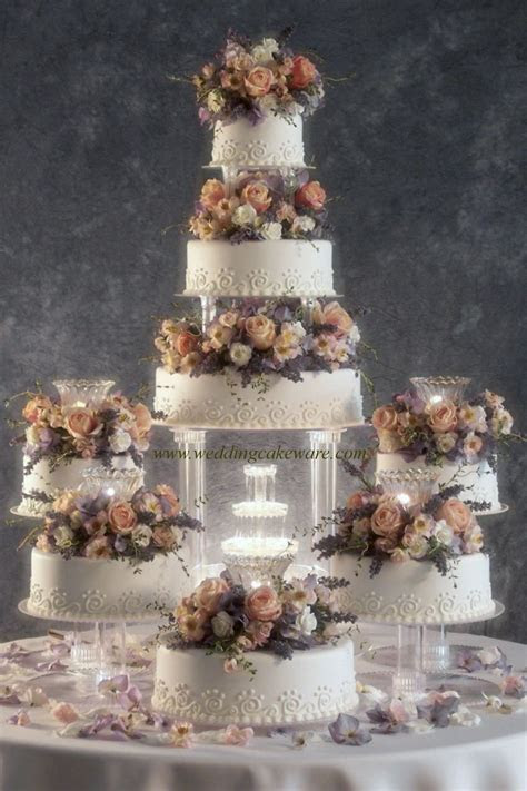 8 TIER CASCADING FOUNTAIN WEDDING CAKE STAND STANDS SET