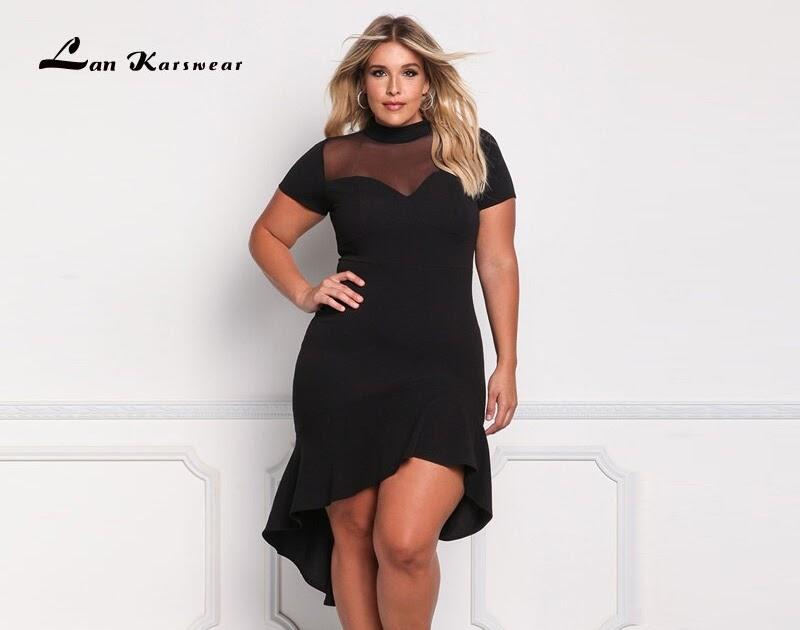 73600d4383 Comprar 2018 Vestidos De Fiesta Elegantes Largos Para Mujer Vestido Sexy  Club Nocturno Talla Grande Negro Blanco Señora Midi Xxxl Online Baratos