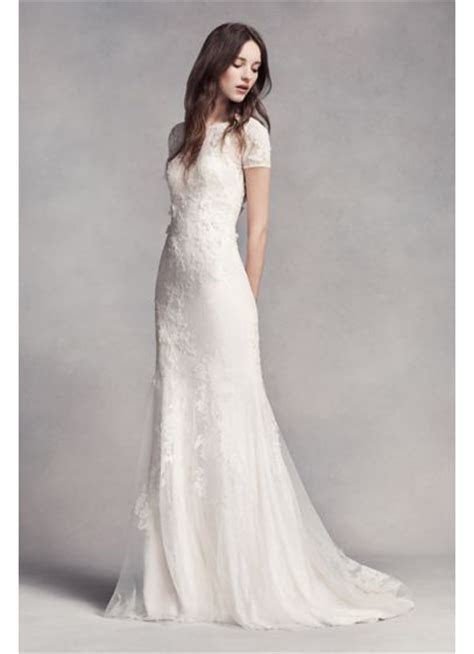 White by Vera Wang Lace Sheath Wedding Dress   David's Bridal