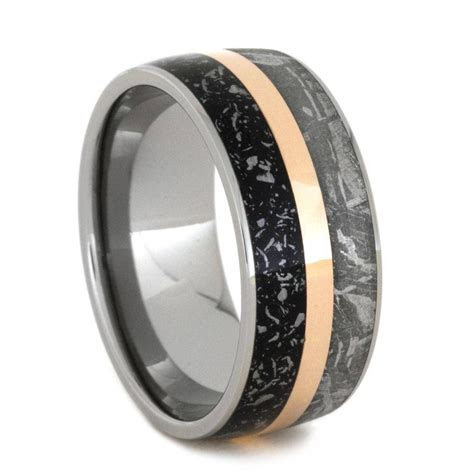 15 Ideas of Men's Wedding Bands Meteorite