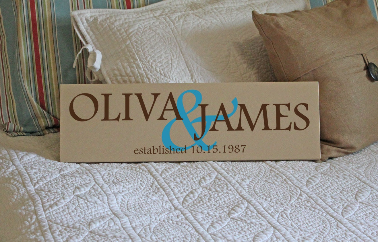 The Two Peas in a Pod - Custom Personalized Family Name Sign