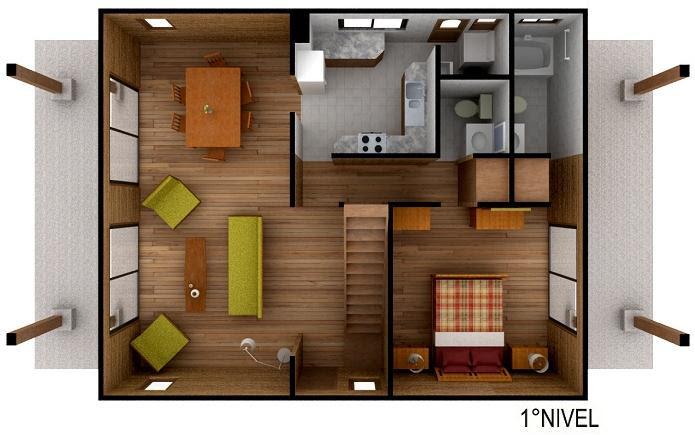 Casas de madera prefabricadas casas segundo piso for Planos para segundo piso