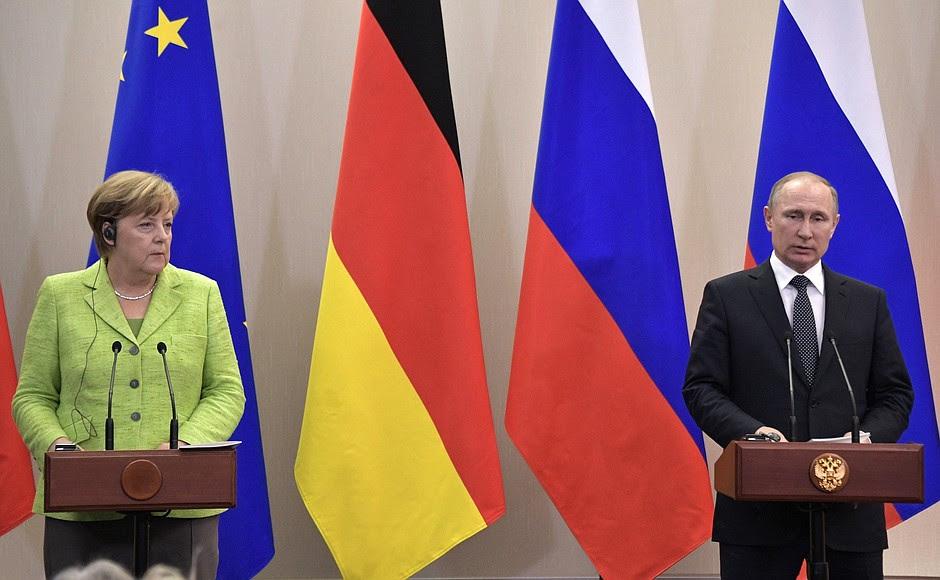 Dichiarazioni alla stampa al termine della riunione c Cancelliere federale tedesca Angela Merkel.
