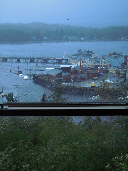 rainy window, Cape Fox Lodge, Ketchikan, Alaska