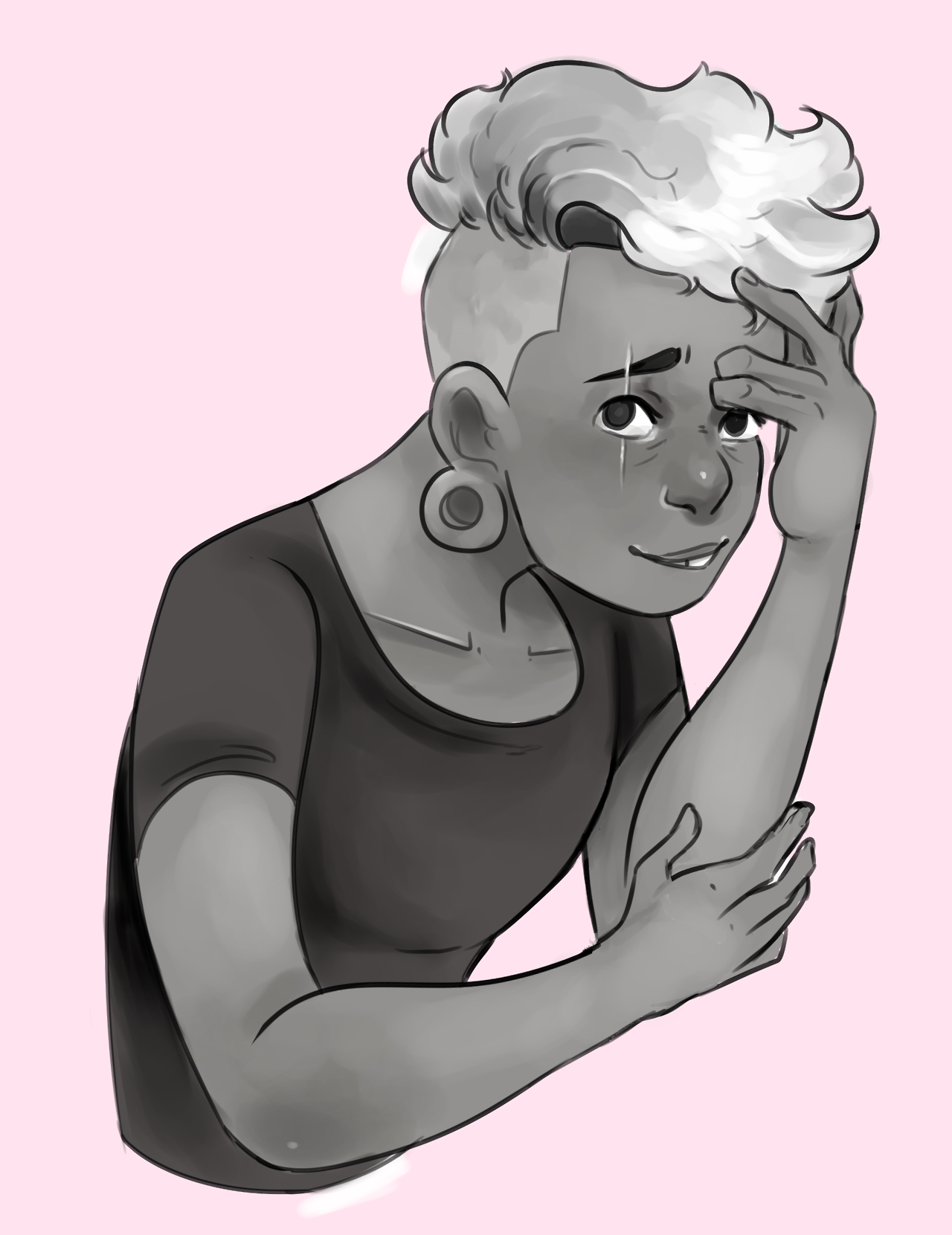 Wanted to experiment with tone before colour, after all that happened I had to choose Lars as the subject.