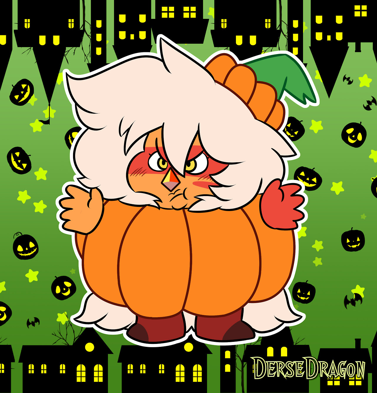 Jasper Pumpkin fusion °^°) …or Jasp in a pumpkin costume xD