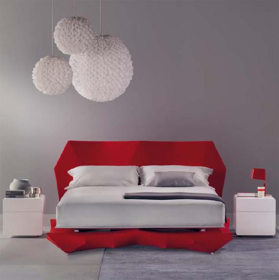 diseño, decoracion, cama, dormitorio