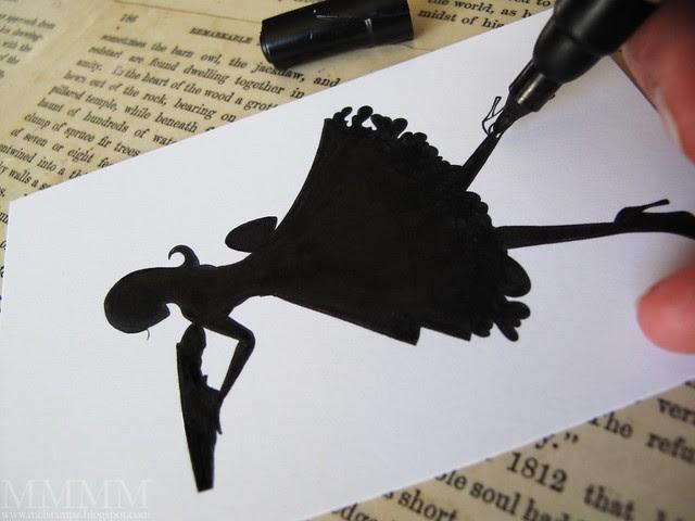 stamp & colour silhouette
