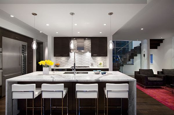 San Clemente Gray & White U-Shaped Modern Kitchen Remodel ...