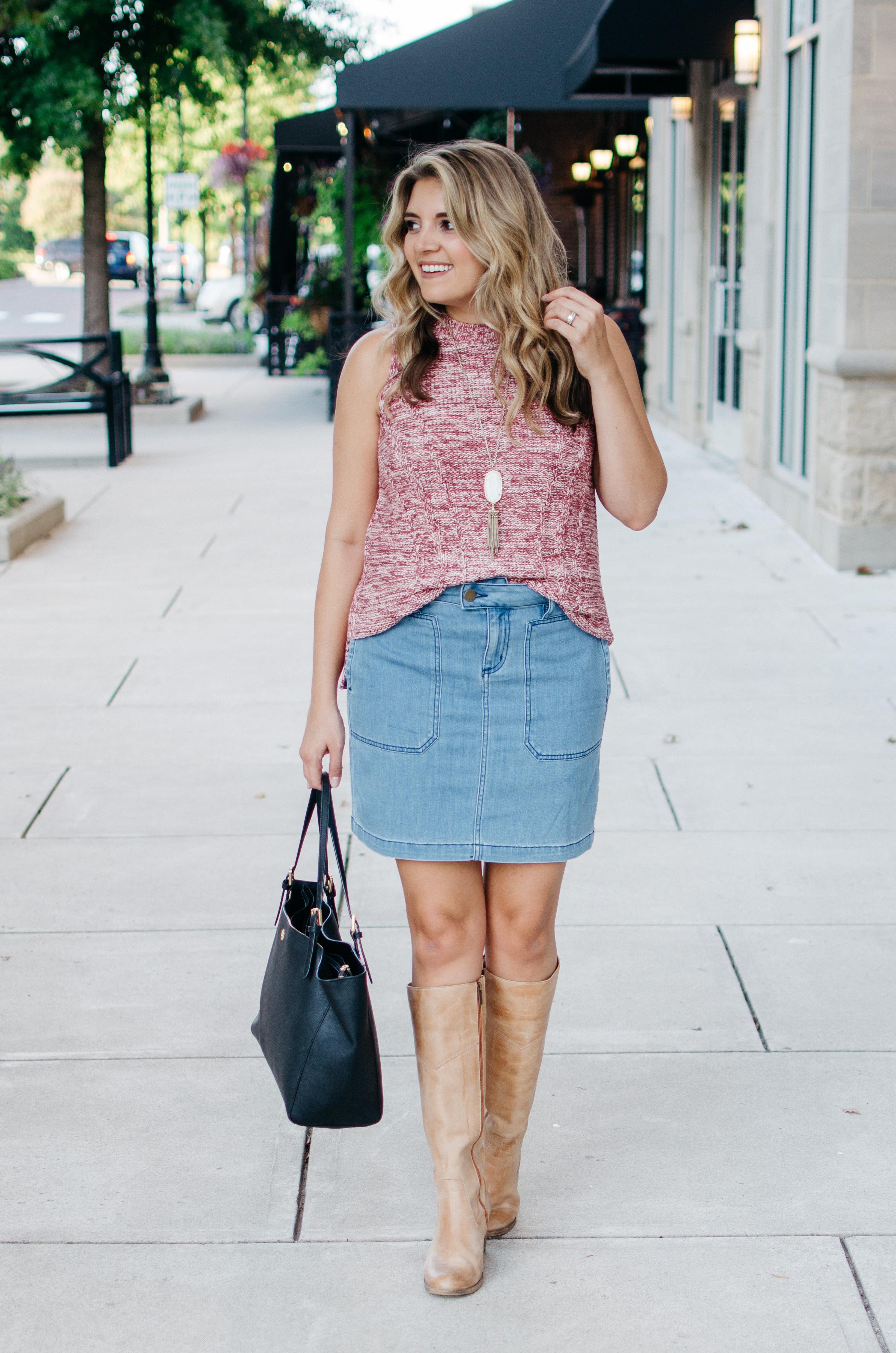 sleeveless turtleneck outfit lauren m