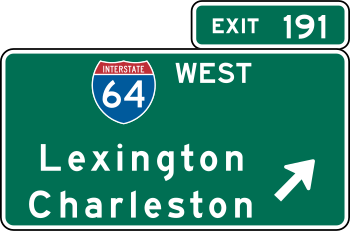 VDOT Interchange Exit Direction Sign