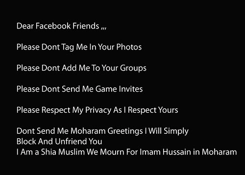 Dear Facebook Friends by firoze shakir photographerno1