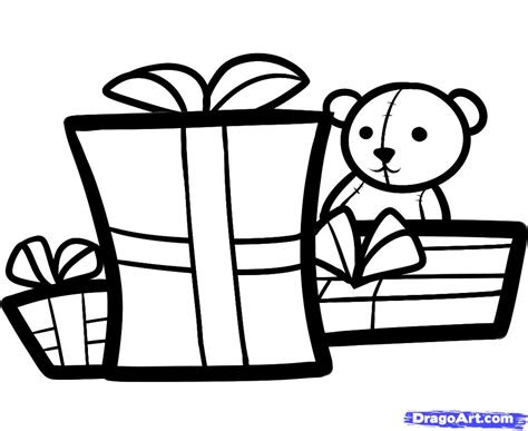 draw christmas gifts christmas gifts step  step