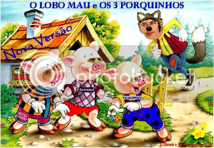 O LOBO MAU E OS 3 PORQUINHOS