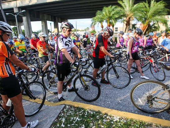 The Fort Myers Ride of Silence, sponsored by the Caloosa