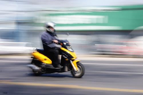 Motion blur motociclista by Manuel Venegas