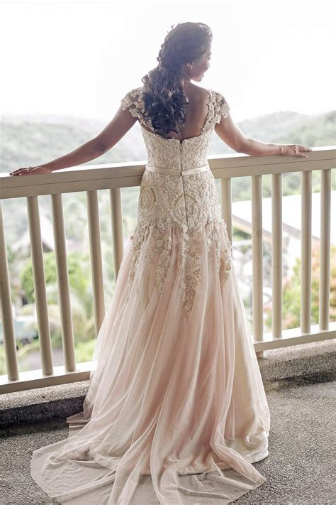 Lace Bridal Gown And Entourage By Camille Co   Camille
