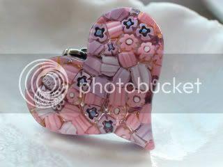 Pink Millefiori Pendant