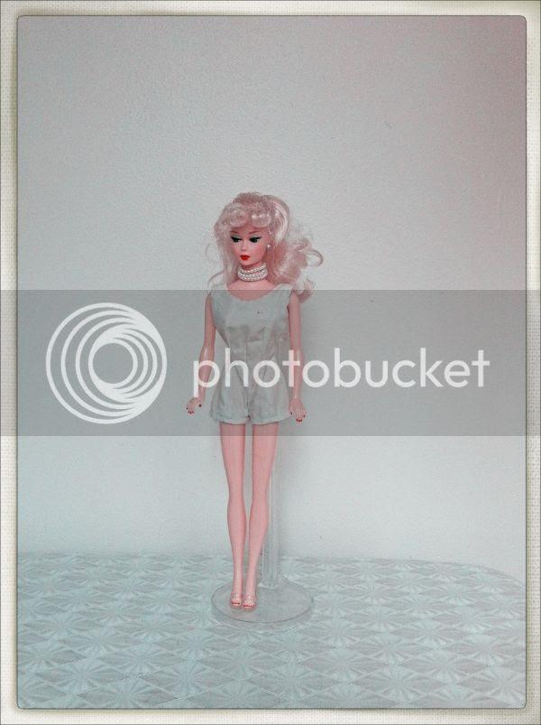 vintage barbie white play suit romper