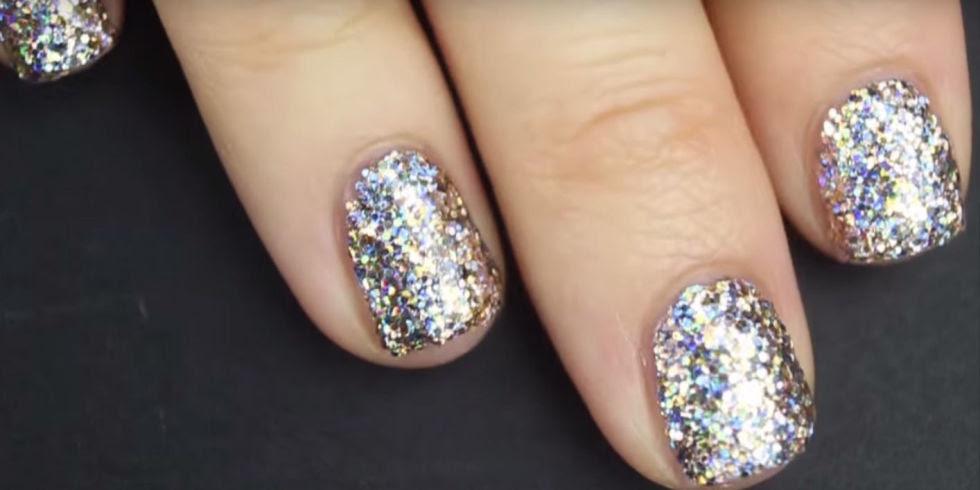 Como aplicar corretamente esmalte com glitter