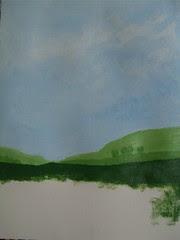 """Art practice: """"Blue Sky, Green Fields"""" (4 of 7)"""