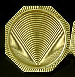 Huger optical art cufflinks. (J9302)
