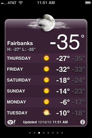 Fairbanks, Alaska winter weather