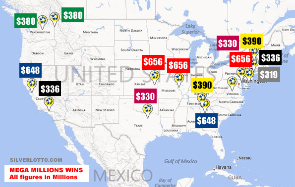This Fascinating Map Reveals Where The 7 Top Mega Millions