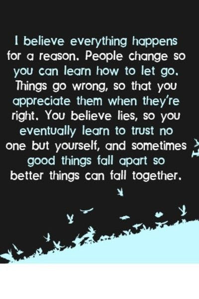 Everything Happens For A Reason Inspiring Quotes And Sayings