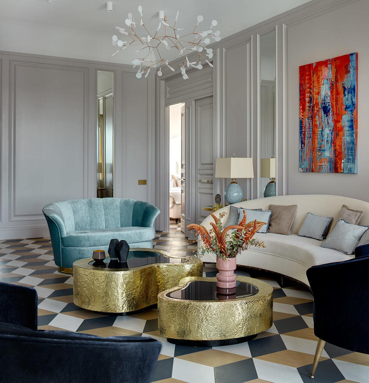 3 Gold Living Room Ideas For Your Design Project Insplosion