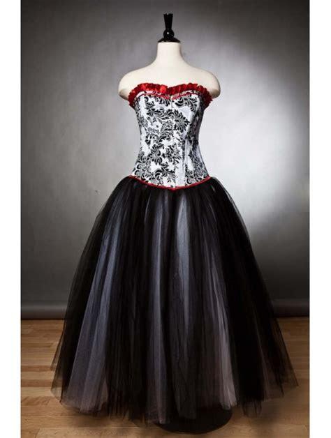 Black Romantic Gothic Corset Prom Party Gown   Devilnight