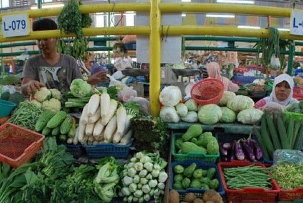 Salah satu lapak pedagang Pasar Pelita, Sukabumi